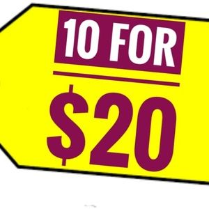 Tops - 10 FOR $20 IS BACK